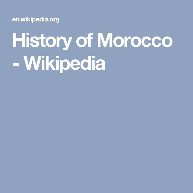 History of Morocco - Wikipedia