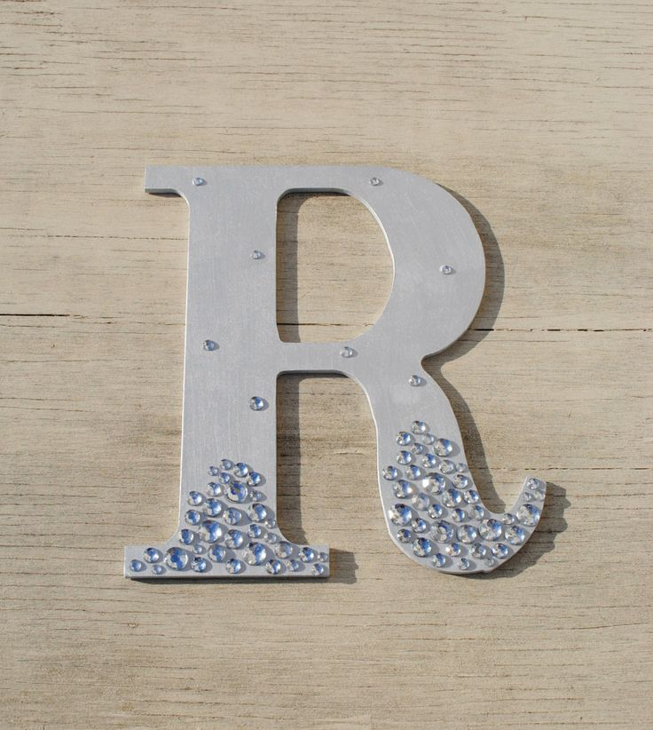 Silver Letters Wall Decor : Silver semi bling sparkle wall letters wedding decor