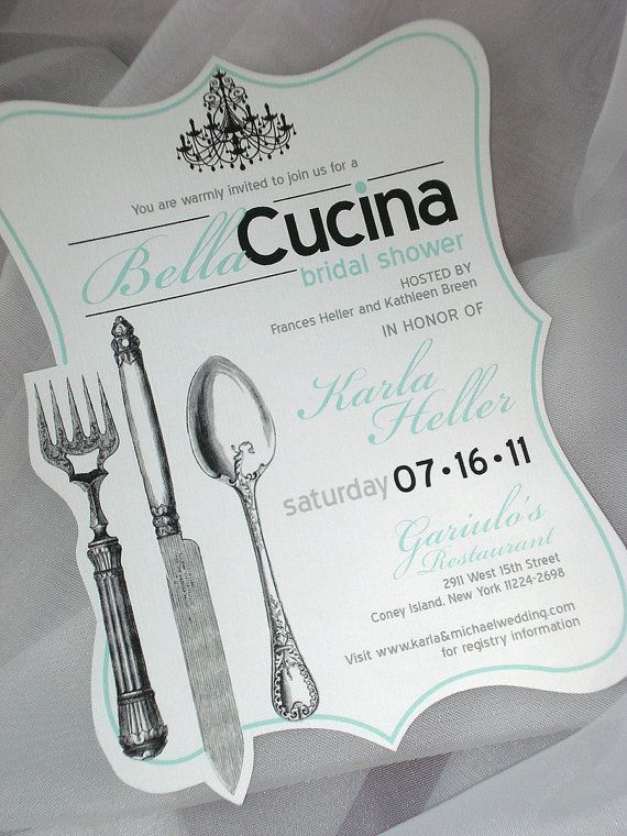 Hey, I found this really awesome Etsy listing at https://www.etsy.com/listing/91010164/bellacucina-hand-cut-bridal-shower these are pretty. She can design a recipe card to match.
