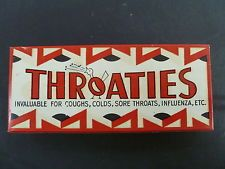 SEALED CARDBOARD THROATIES PACKET COMPLETE WITH CONTENTS / JAMES STEDMAN SWEETS