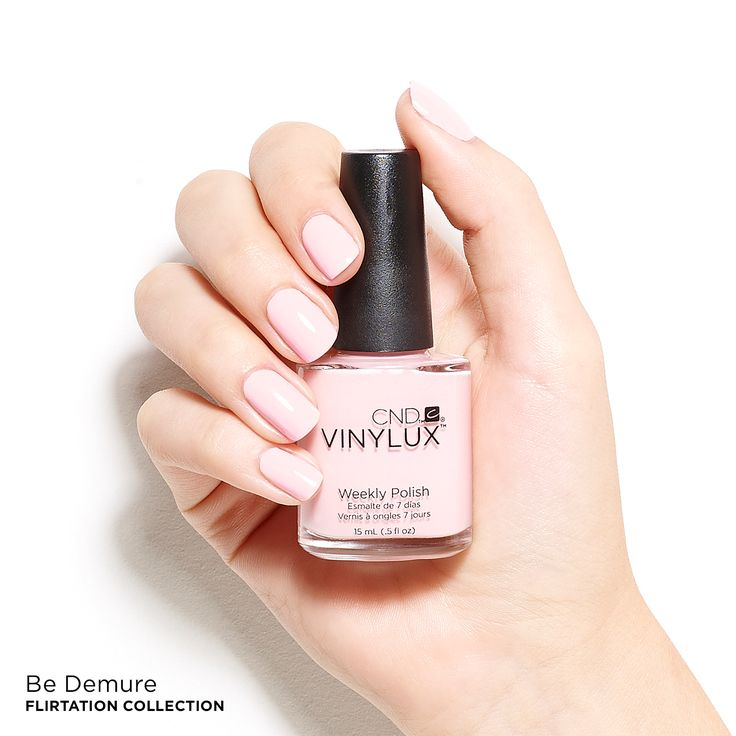 CND™ nail polish in the shade Be Demure, Summer 2016 Flirtation Collection.