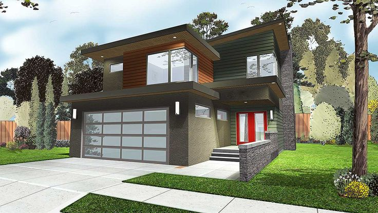 3 Bed Modern Home Plan with Covered Patio - 62545DJ | 2nd Floor Master Suite, Butler Walk-in Pantry, CAD Available, Contemporary, Modern,…