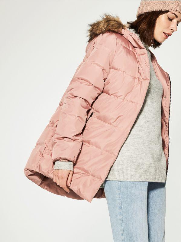 Z2018  Pikowany płaszcz wypełniony naturalnym puchem, HOUSE, RS897-03X