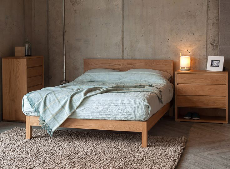 Oak Malabar Bed And Storage From The Black Lotus Collection. Aqua Shanti  Quilt And Pure
