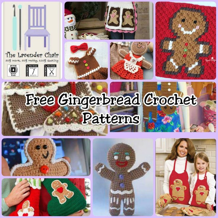 Free Knitting Pattern For A Gingerbread Man : 17 Best images about Christmas crochet on Pinterest Free pattern, Crochet r...