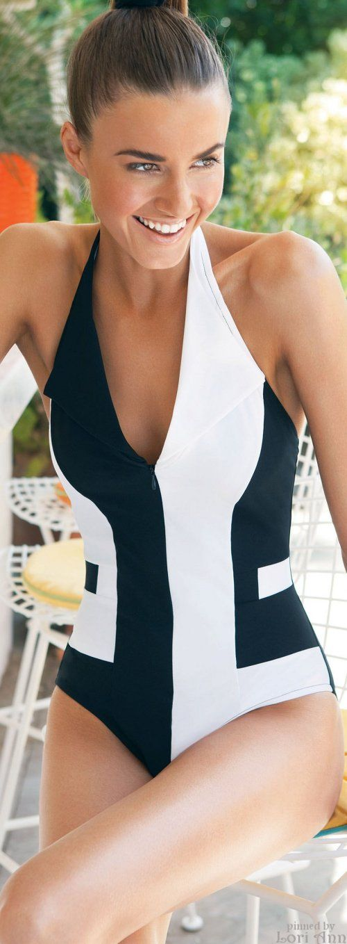 Karla Colletto Swimwear 2015. A great suit for all shapes, Hand Pinned by Feron Clark Style.