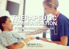 Here are some tips on how to answer therapeutic communication questions in the NCLEX or your nursing board exam by learning the principles.