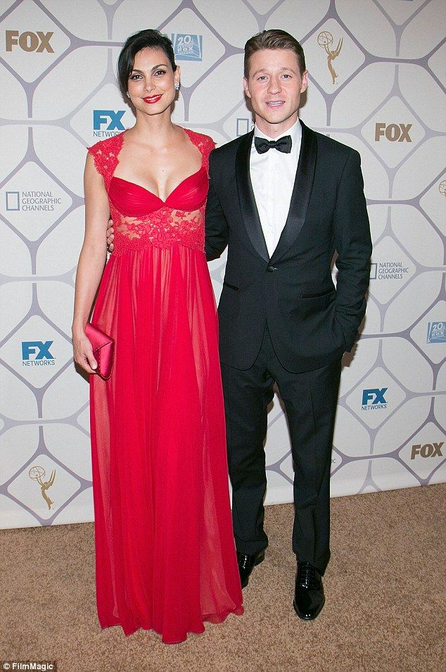 Lovers on screen and off: The pair met on the set of Gotham last year - their romance was on revealed earlier this week when they were seen getting close at an Emmy's after party