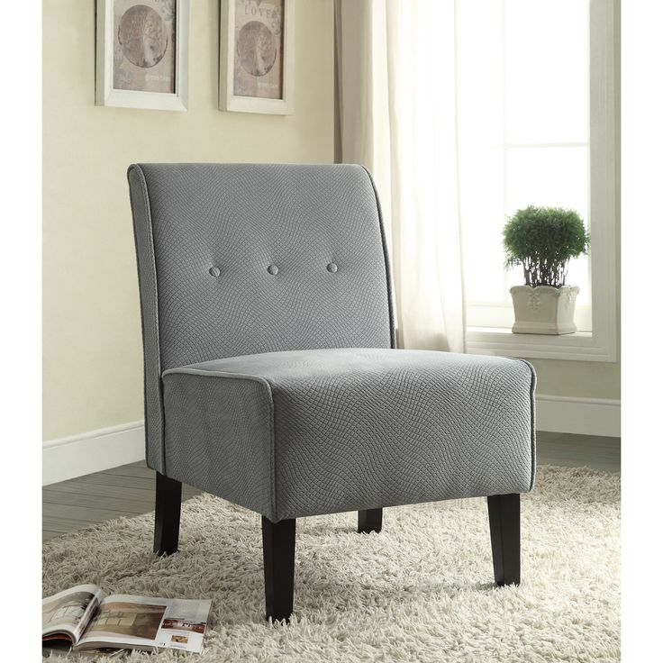 Linon Coco Mist Blue Fabric Accent Chair   Overstock™ Shopping   Great  Deals On Linon Living Room Chairs