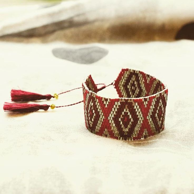 A #wonderful #bracelet made from #beads & #tassels
