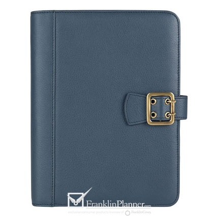 I love this new FranklinCovey Cover.  It has impeccable organization inside, complete with a notepad slot, business card pockets, pen loops and more. $79.95