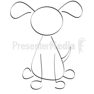 Line Drawn Dog PowerPoint Clip Art