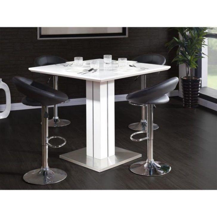 Interior Design Table Laque Blanc Sandro Table Bar 100x100cm Laque Blanc Brillant Laque Meubl Salle A Manger Moderne Salle De Bain Design Meuble Salle A Manger