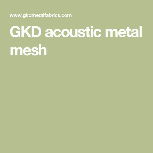 GKD acoustic metal mesh