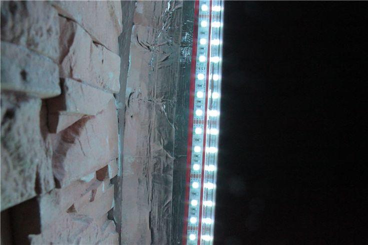 We wnęce są dwie listwy led (lewa i prawa) którymi można sterować niezależnie.