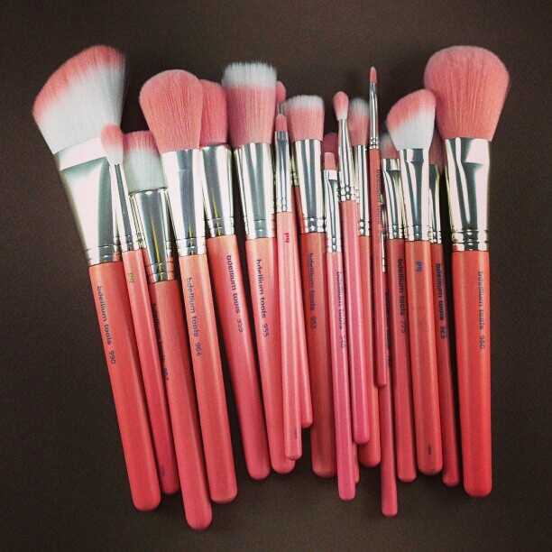 Mother nature approved & MUA friendly. New eco-friendly Pink Bambu Series Makeup Brushes are making its debut at IMATS LA 2013.