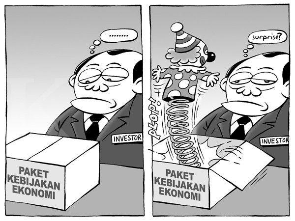 Kartun Benny, Kontan - Septemeber 2015: Paket Ekonomi Tanpa Kejutan
