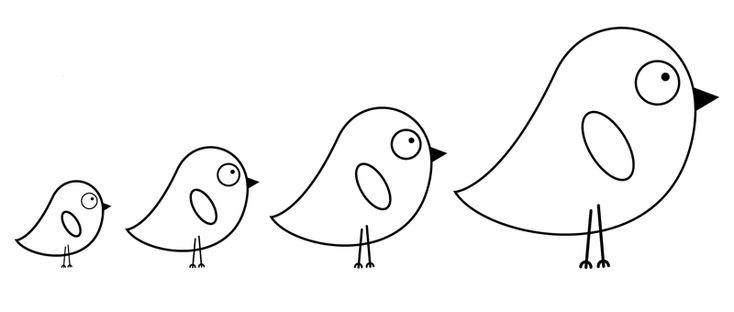 ausmalbild vögel kostenlose malvorlage vier küken