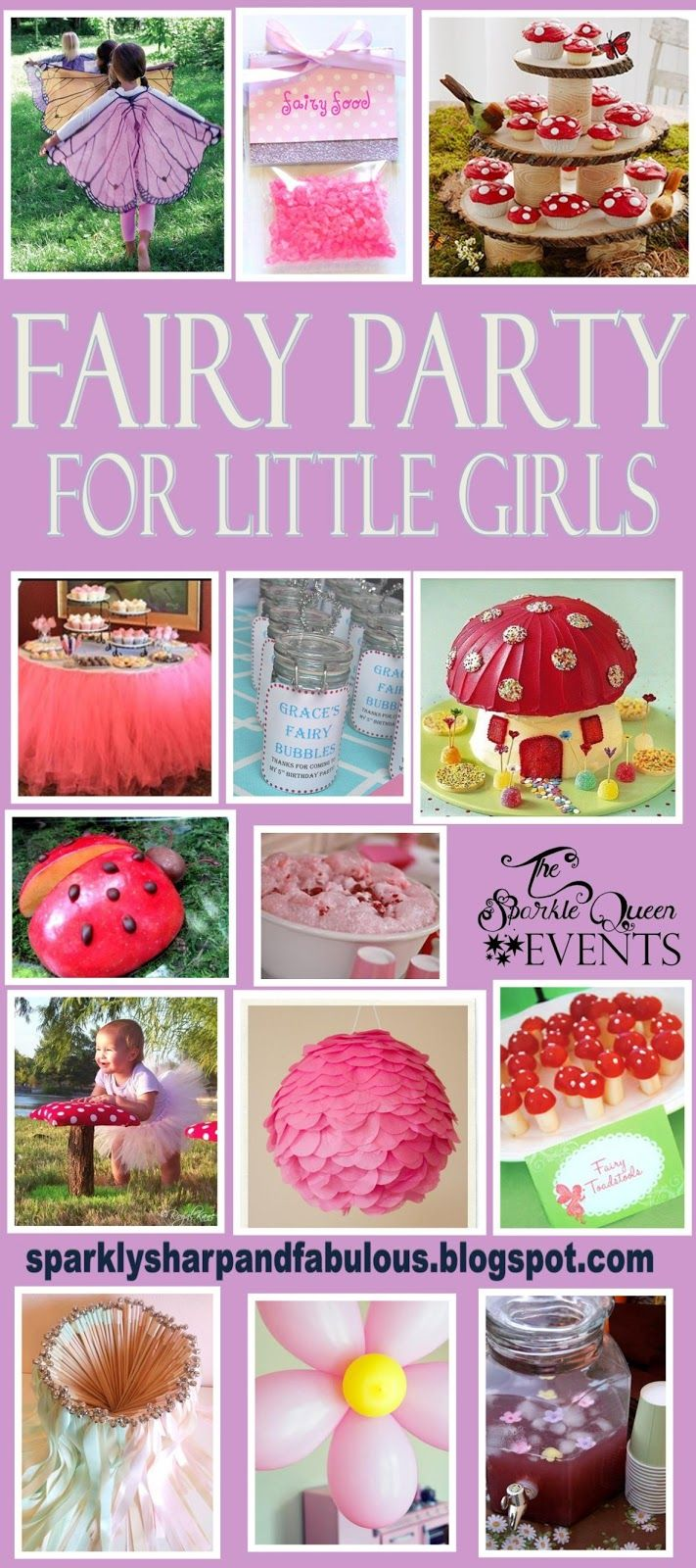 A Fairy Party for Little Girls - idea board