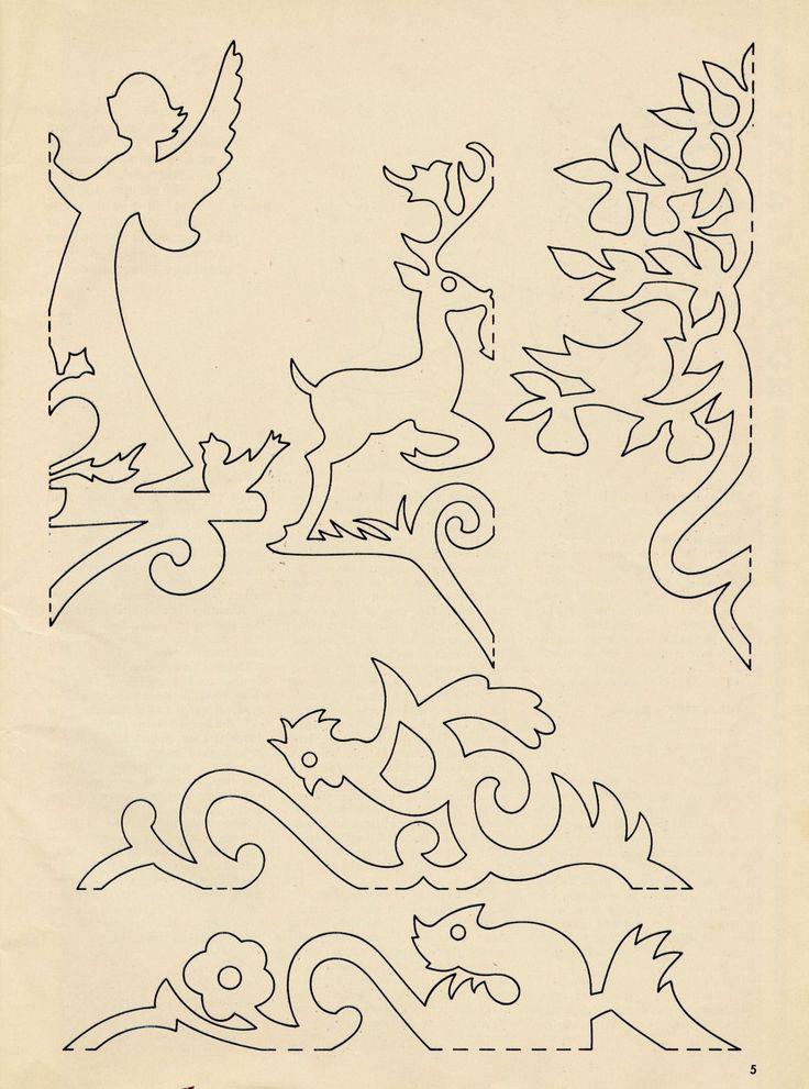 Vintage Paper Garland Patterns - snowflakes?