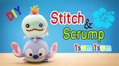 Disney Stitch and Scrump Tsum Tsum Sock Plush Tutorial   Free pattern DIY   Find all the Tsum Tsum Characters at TsumTsumPlush com