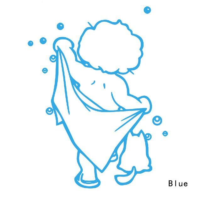 Home Decor Bathroom Lovely Removable Black Art Stickers For Tiles Glasses Wall Decal 3 Colors