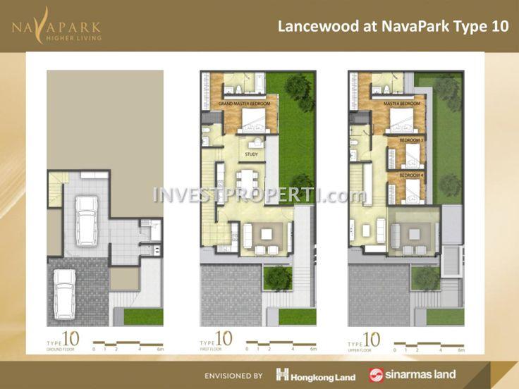 Denah lantai cluster Lancewood Tipe 10 #navaparkbsd #sinarmasland #hongkongland