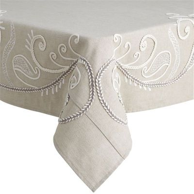 Border Scroll Tablecloths   Natural Pier One
