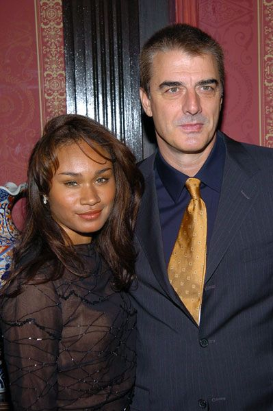 "Love ""Sex & The City,"" but lol when i saw someone comment that is why Carrie couldn't get Mr Big to act right! Chris Noth & wife, Tara Wilson."