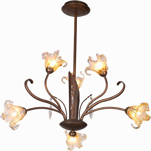Pyramid Creations Bloom 22 Antique Bronze 6 Light Chandelier At MenardsR Dining Room