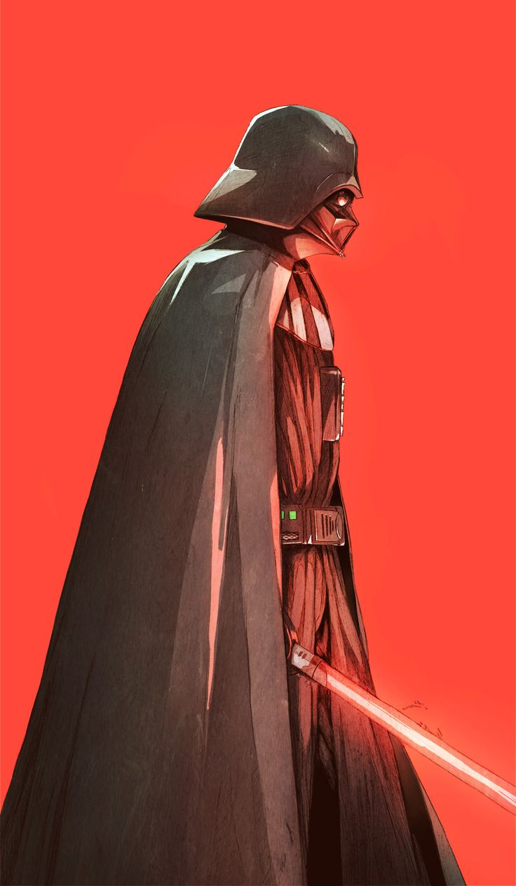 """chunlo: """"Darth Vader Can't wait to see my favorite handicapped villain that needs a full body respirator to stay alive in Rogue One tonight. Did most of the coloring of this on my twitch. Twitch Portfolio Shop """""""