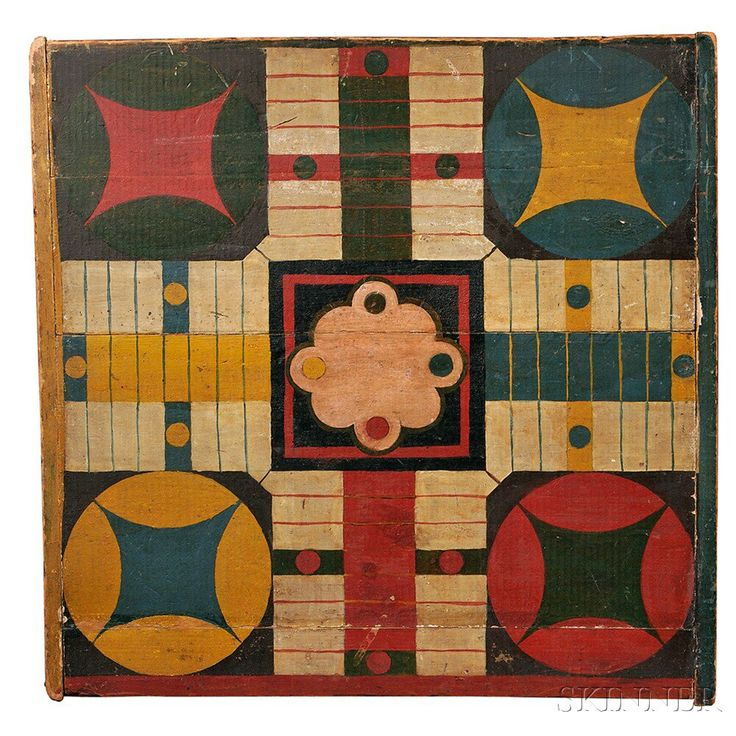 Painted Parcheesi Board | Skinner