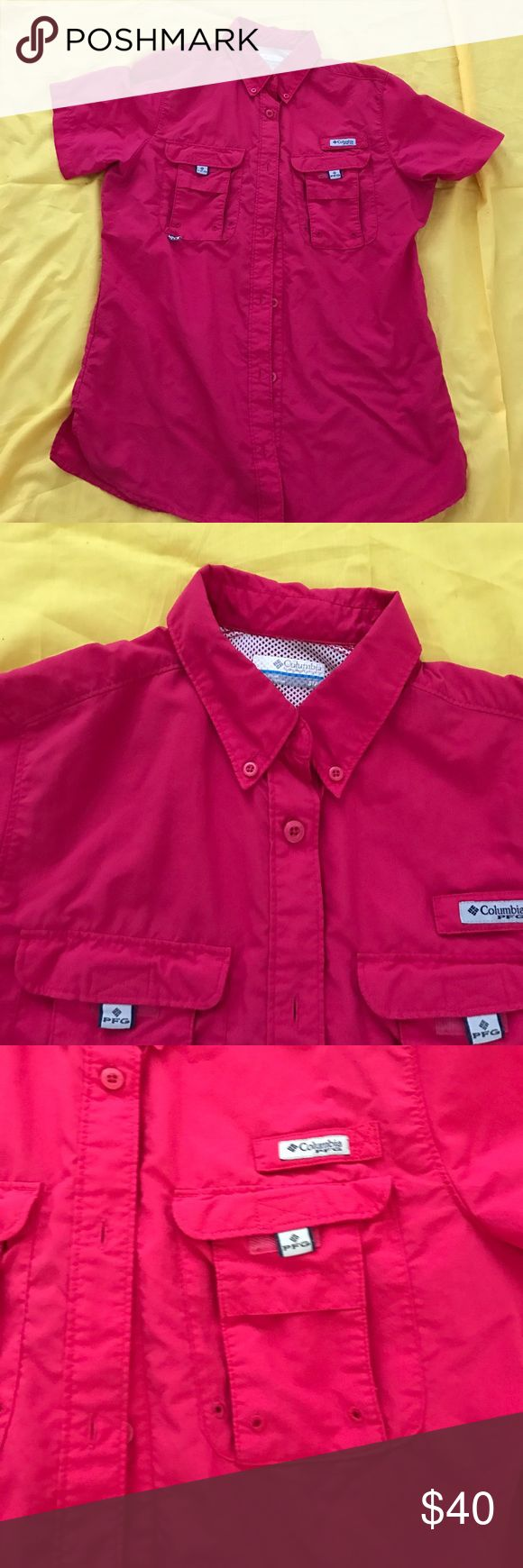 Hot pink Columbia fishing shirt Hot pink Columbia fishing shirt small Columbia Other