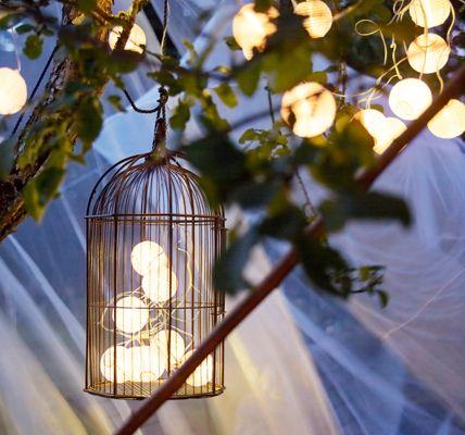 nice idea: birds cage+lampion lights