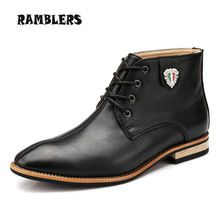 Black Leather Boots For Men Dress Shoes Brown Casual Ankle Boots New Autumn Fashion Design Pointed Toe Footwear Botas Hombre     Tag a friend who would love this!     FREE Shipping Worldwide     #Style #Fashion #Clothing    Get it here ---> http://www.alifashionmarket.com/products/black-leather-boots-for-men-dress-shoes-brown-casual-ankle-boots-new-autumn-fashion-design-pointed-toe-footwear-botas-hombre/