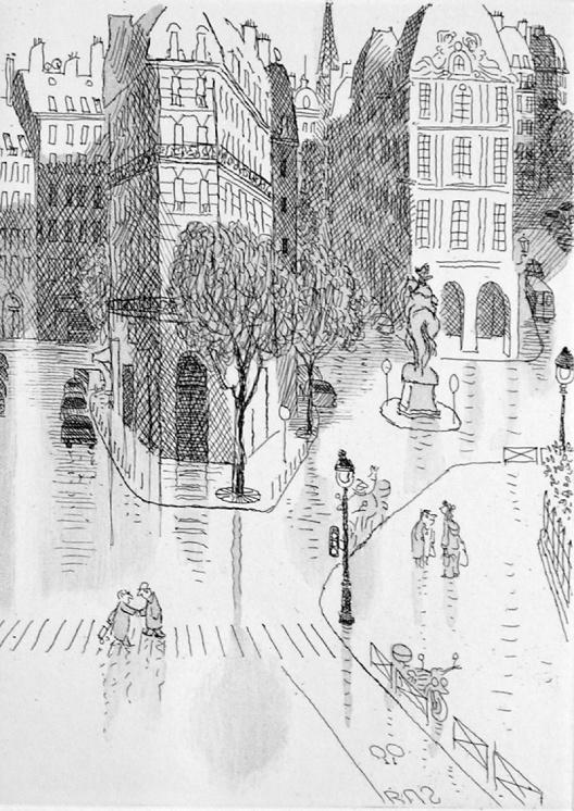 """Jean-Jacques Sempé - """"Paris (passage piéton)"""""""