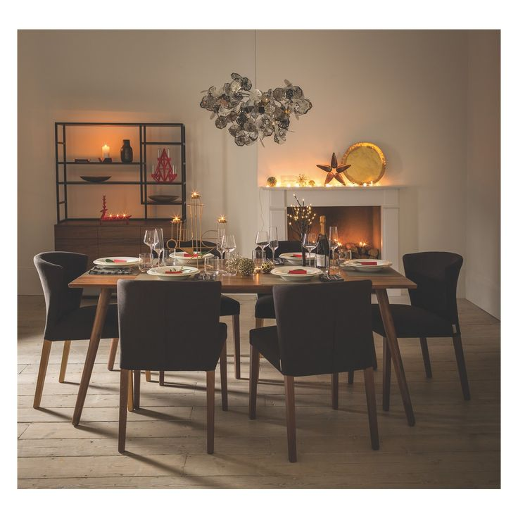 VINCE 8 seat walnut dining table | Buy now at Habitat UK