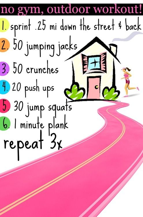 You could increase the run to a mile or so to make this as hard as you want!