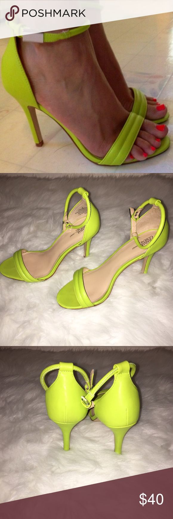 Prabal Gurung Neon Sandals Please note... Runs 1/2 Size Big. No Box Included! ❌No Trades!❌Not Zara! Just for views! Zara Shoes