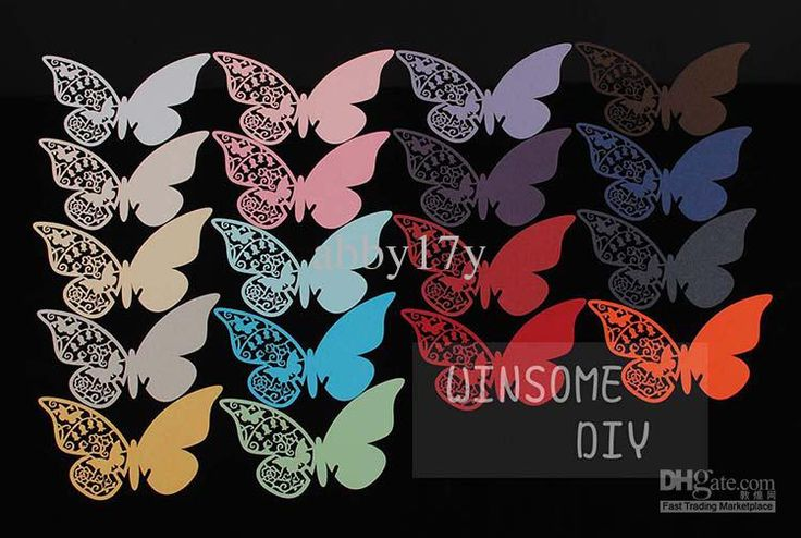 Wholesale Wine Glass - Buy Laser Cutting Butterfly Place Card,Beautiful Butterfly Wedding Wine Glass Escort CardsBKHD001, $0.23 | DHgate