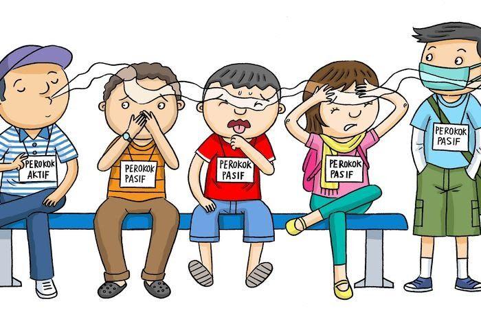 Bahaya Merokok Gambar Animasi Pin Di Kartun