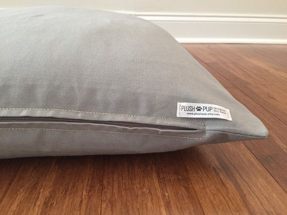 Gray dog bed cover Solid color dog bed cover by PlushPupdogbeds