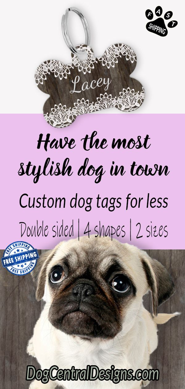 How To Have The Most Stylish Pet In Town Custom Dog Tags Stylish Dogs Custom Dog Collars