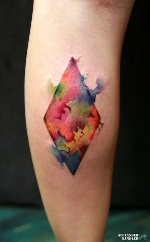 Abstract Watercolor Tattoos   Inked Magazine
