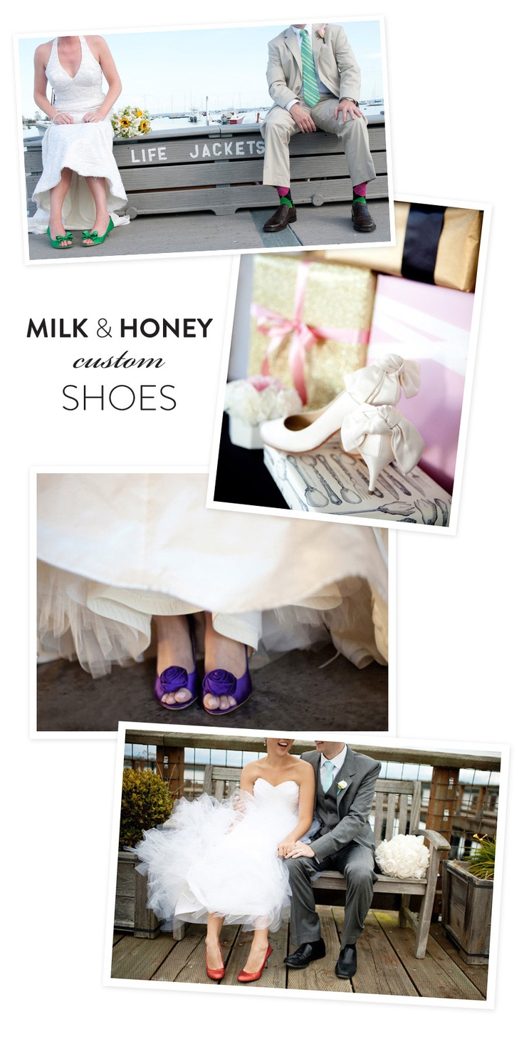Design your own totally unique and custom shoes with super cute online boutique, Milk and Honey Shoes!