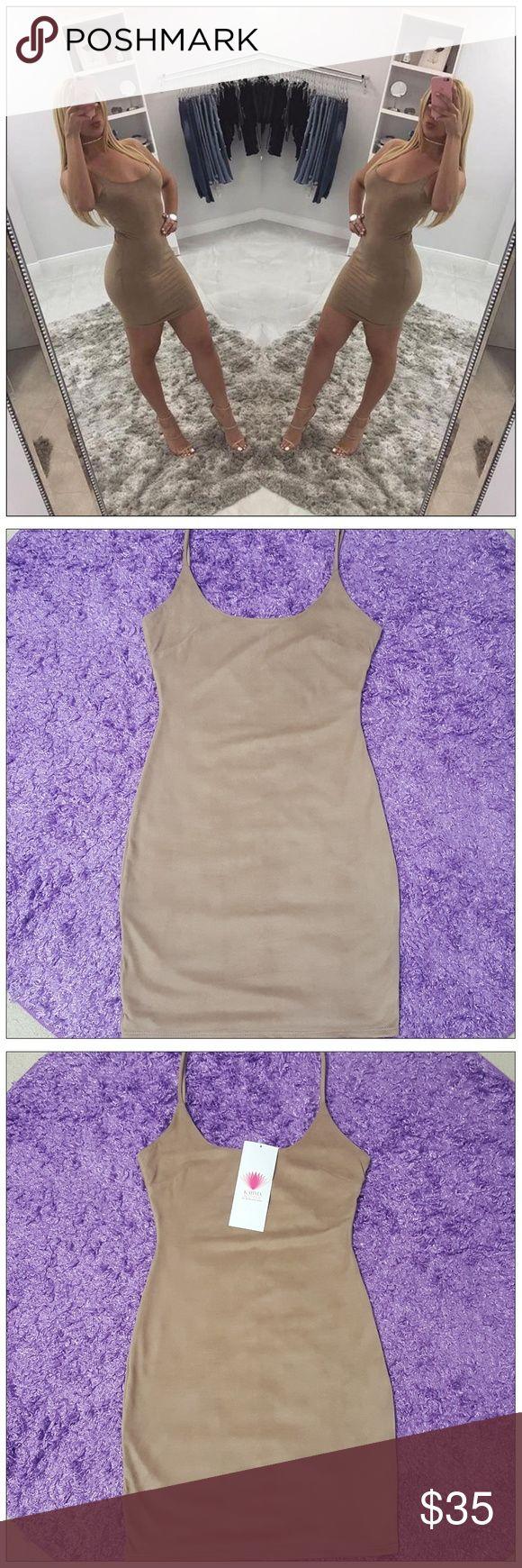 Beige Mini Dress Beautiful Beige Faux Suede Mini Dress 💜 Dresses Mini