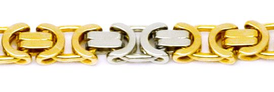 Foto 2, Königskette Gold-Kette massiv Gelbgold Weissgold Luxus!, K2175