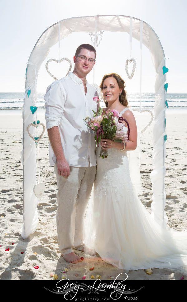 Beach wedding in Cape Town by Greg Lumley