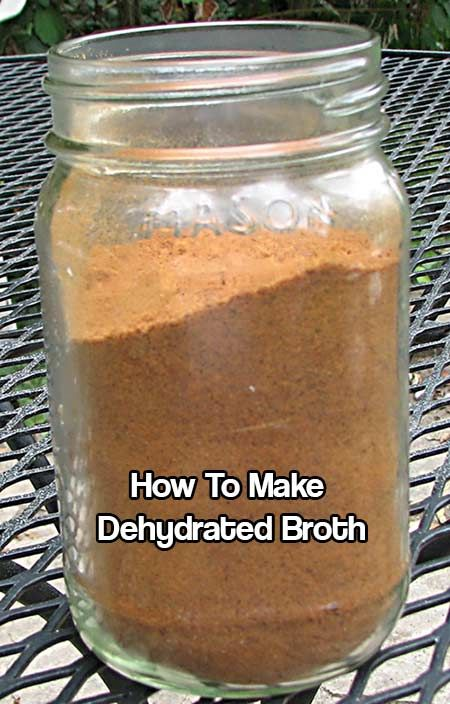 How To Make Dehydrated Broth. 1 tsp of dehydrated broth (give or take) makes 1 cup of re-hydrated broth! Stores for years and easy to make.