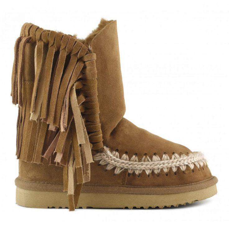 Boots Eskimo Franges CognacMou O8khgkc